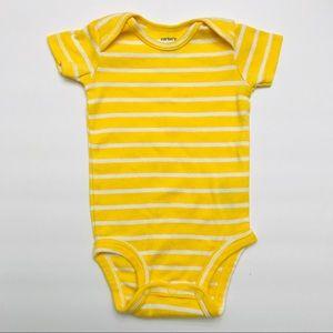 Carter's 3M Short-Sleeve Striped Onesie Bodysuit